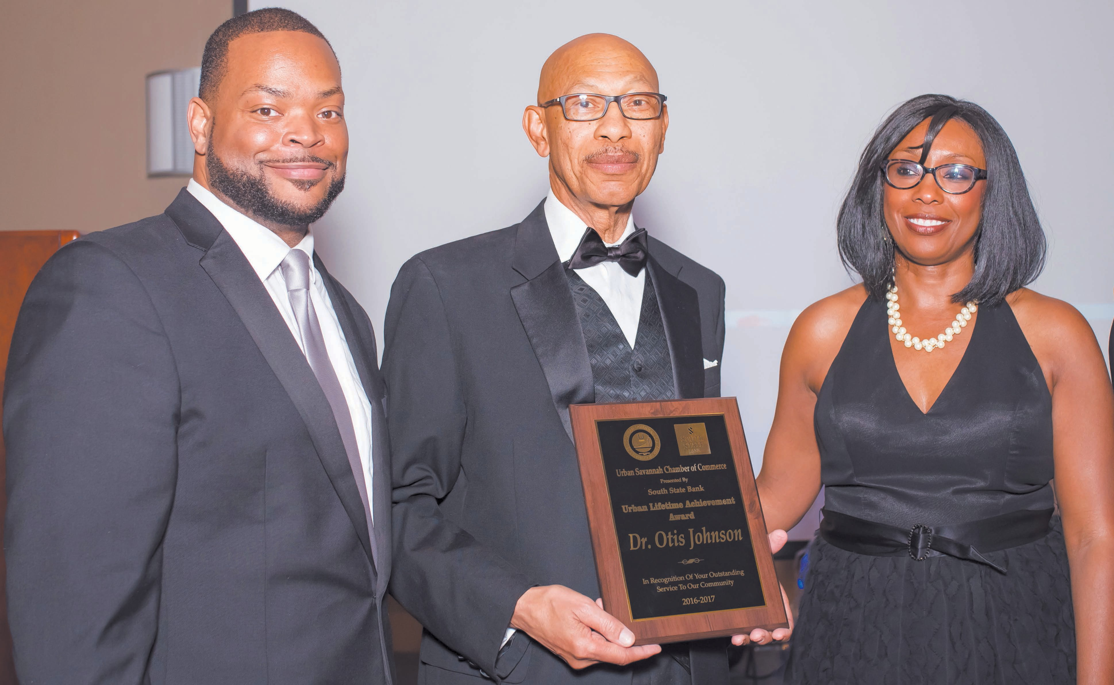John Voner, Dr. Otis Johnson and Eula Parker
