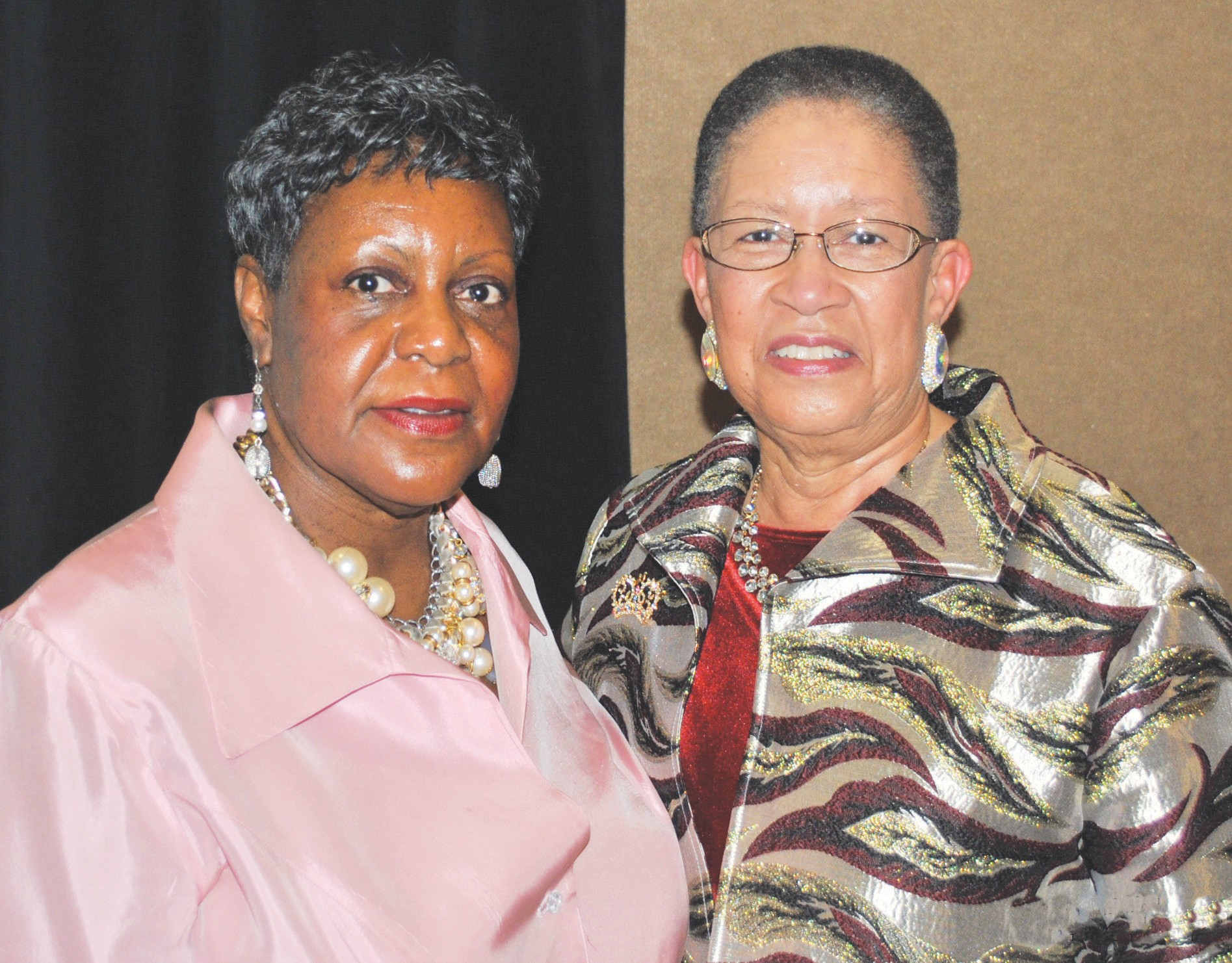 Sylvia Williams-McGee (L) and Shirley James