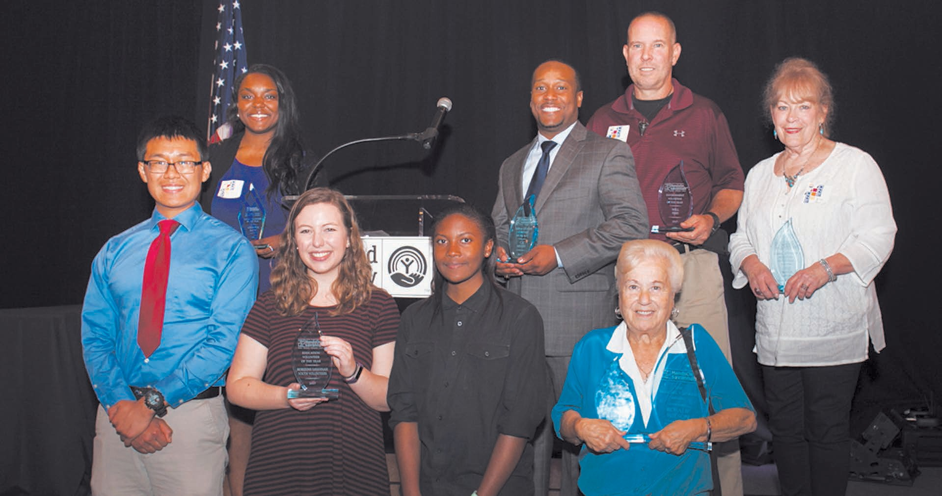 Left to right, top to bottom: Abreona Batts, C.A. Miller, Will Sims, Jane Mace, Horizons Savannah volunteers (3), Rosalie Wilson.