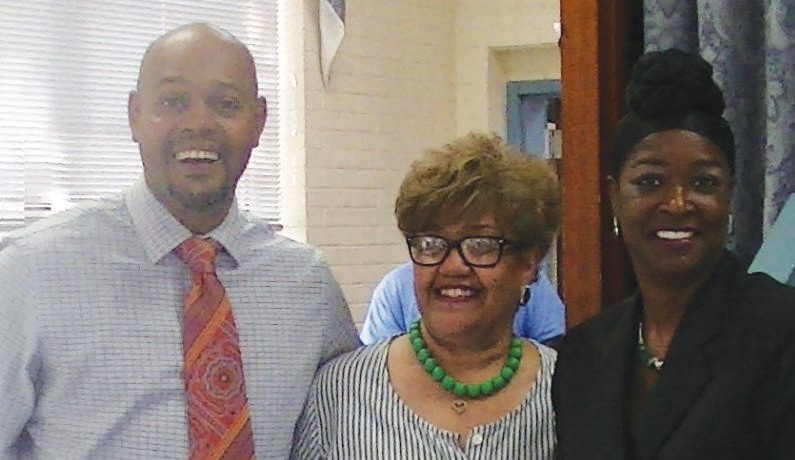 "L-R: James ""J"" Jones, Commisioner of the Sixth District; Angela Young, Vice President of Savannah Chapter Links; Dr. Quentina Fields-Miller, Savannah Links Program Chair"