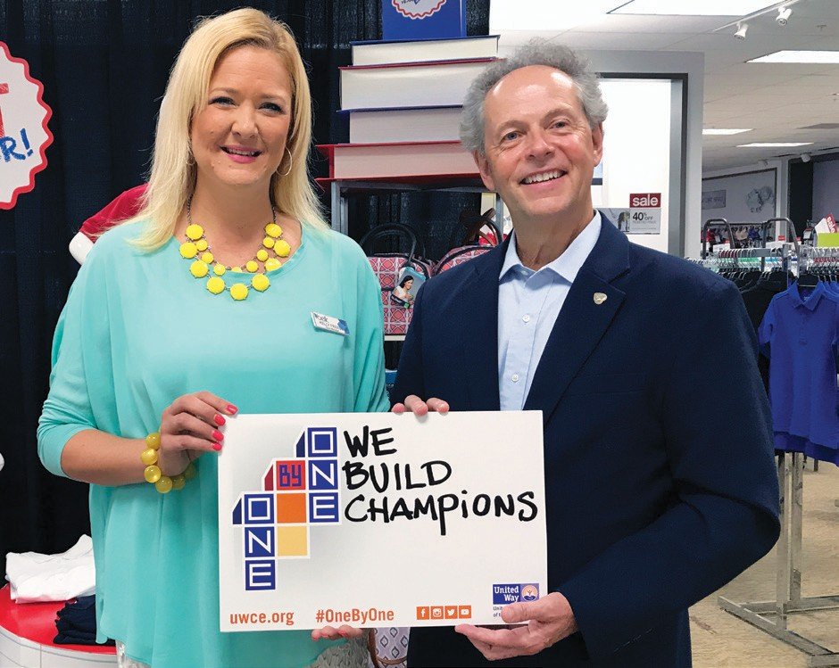Kelly Freeze, Store Manager, Belk of Savannah and Gregg Schroeder, President & CEO, United Way of the Coastal Empire