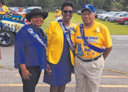 Parade Grand Marshal Dr. Ann Levett (center) with Co-Grand Marshals Dr. Patricia Harris and Lawrence Hutchins