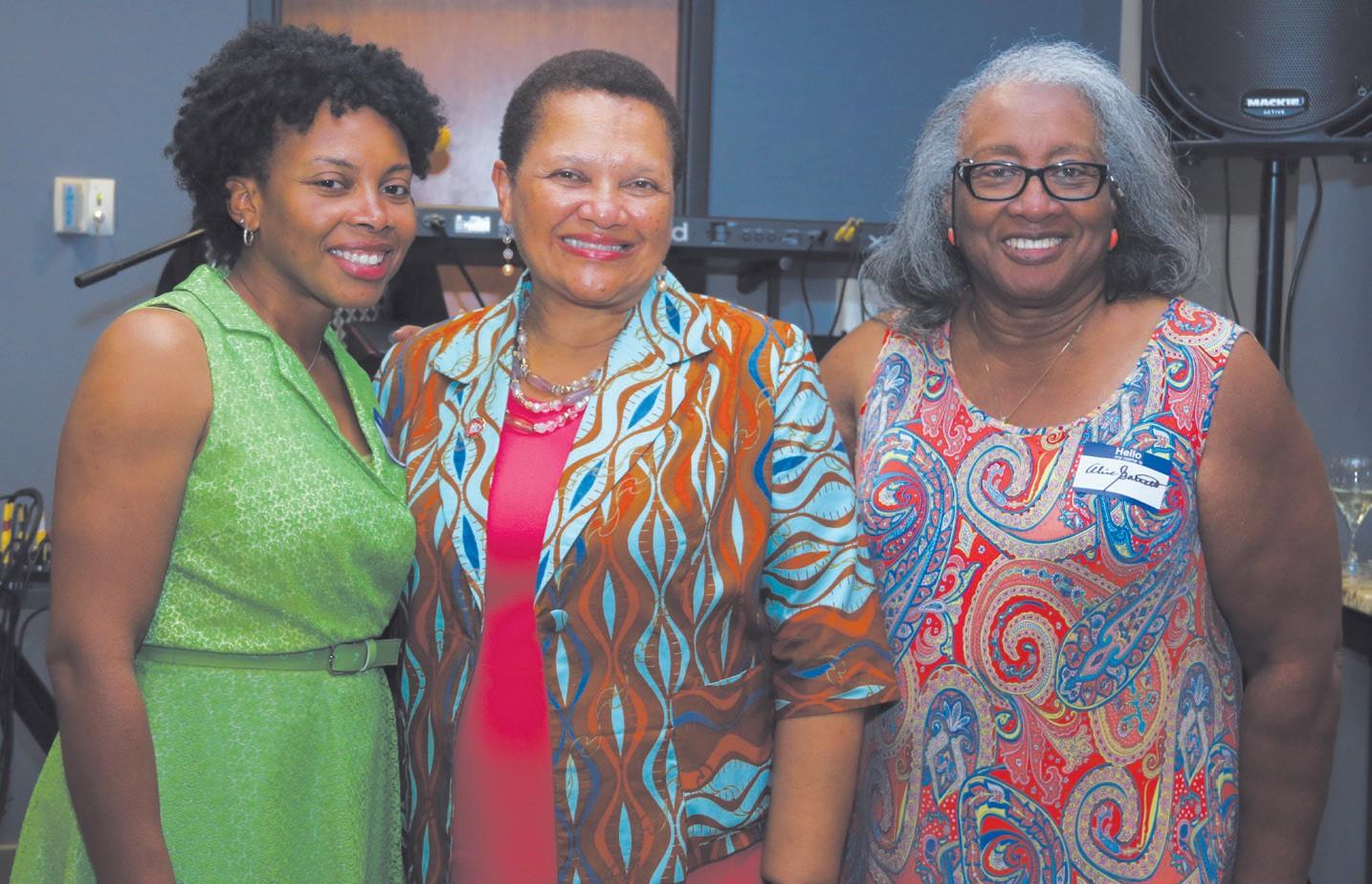 L-R: Dr. Nashett C. Garrett; Dr. Cheryl Dozier and Dr. Alice Garrett