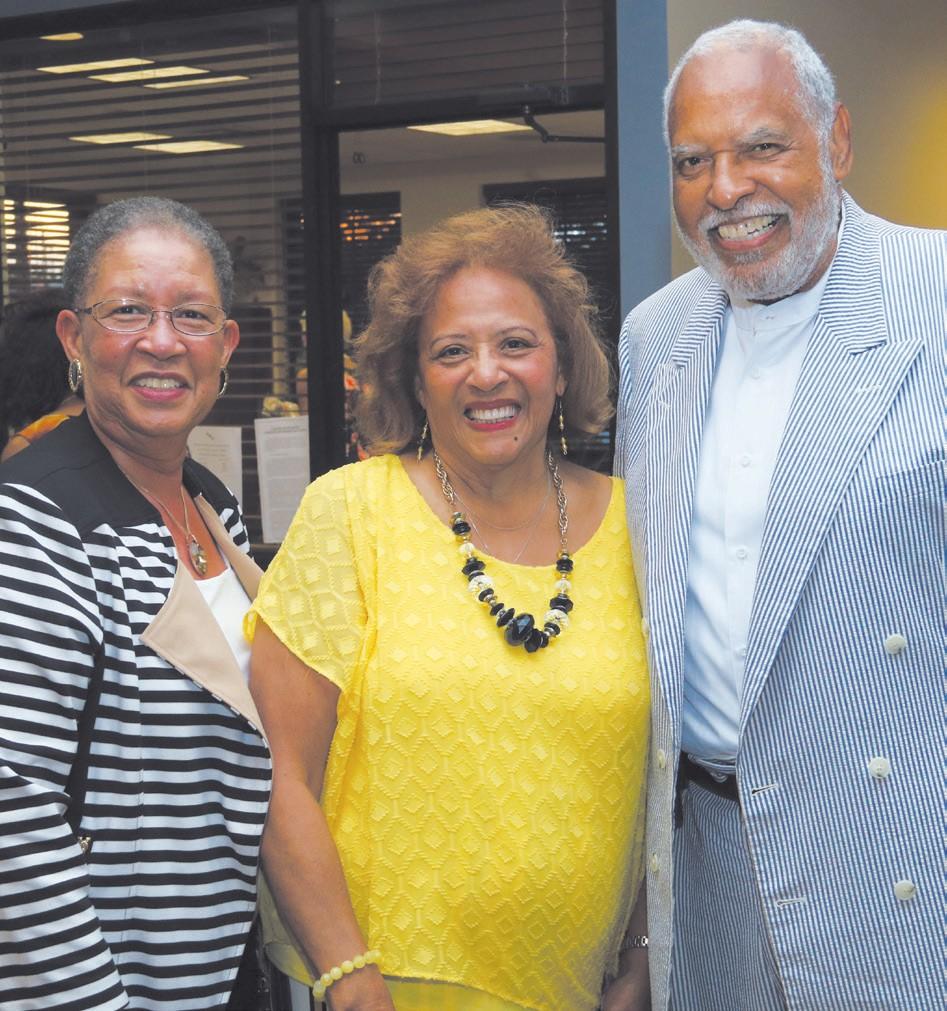 L-R: Tribune Publisher Shirley James, Dr. Charlease Stevenson and Dr. Robert Stevenson.