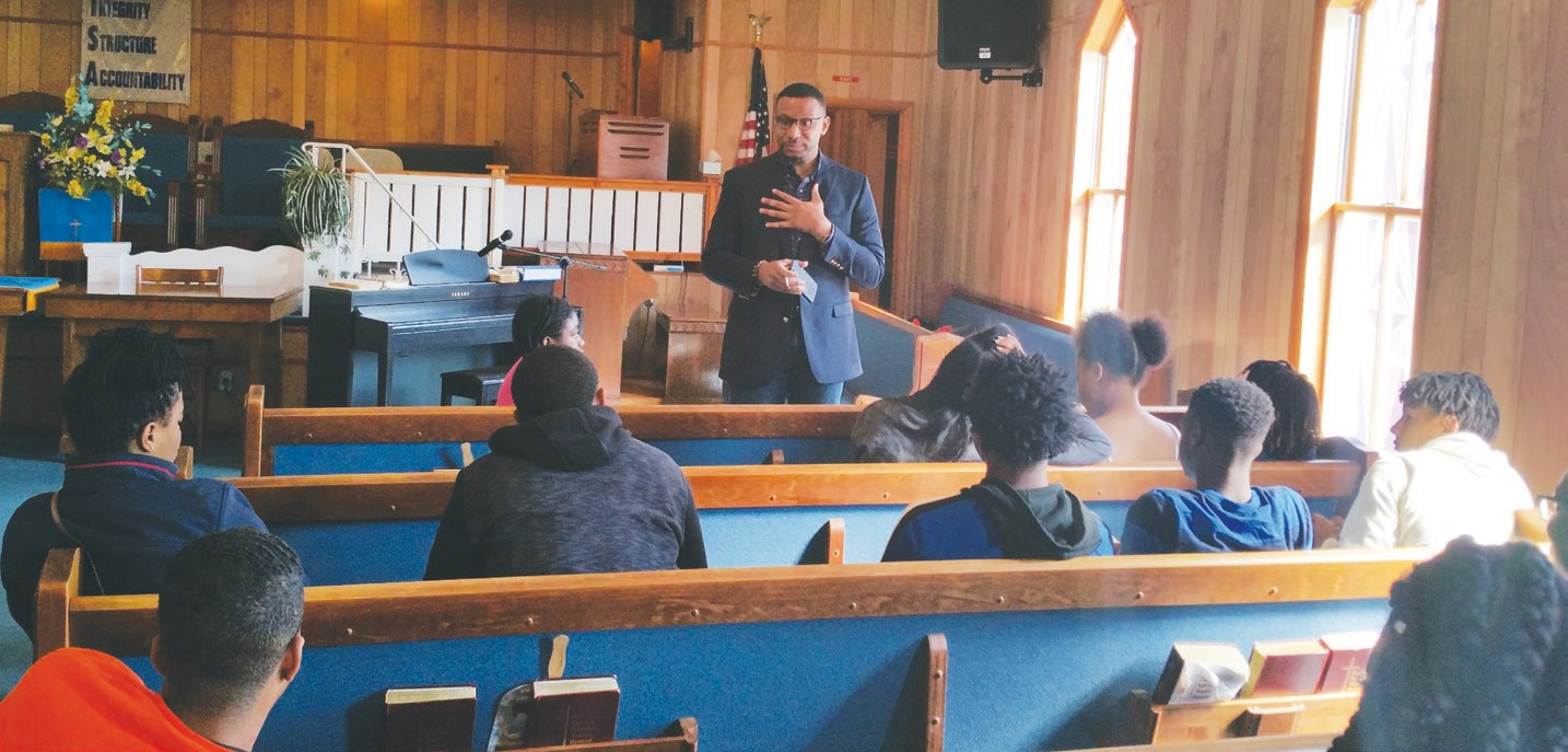 Rev. Paul Smith Engages Youth.