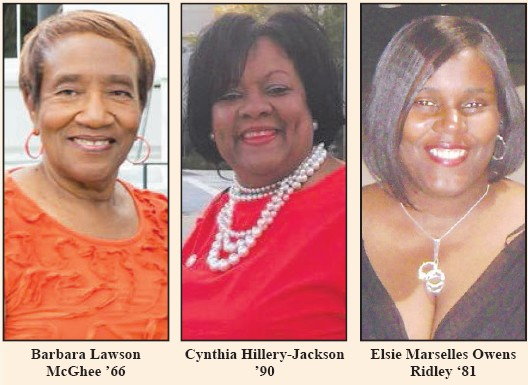 Savannah State University National Alumni Association presents the Queen Barbara l Lawson McGhee and her attendants Cynthia Hillery-Jackson and Elise Marselles Owens. The coronation will held on Thursday at 5p m. in the Gordon Library Miss SSUNAA 2017-18, Barbara Lawson McGhee '66 is a Diamond Life member of the SSU Alumni Association, serves as financial secretary of the Savannah alumni chapter and is chair of the SSU community booster club. A native of Waycross, Ga., she graduated from Savannah State with a degree in English and earned a master's degree in middle grade education from Savannah State – Armstrong State joint program. McGhee taught all ages in the Savannah-Chatham County Public School System before retiring in 1995.