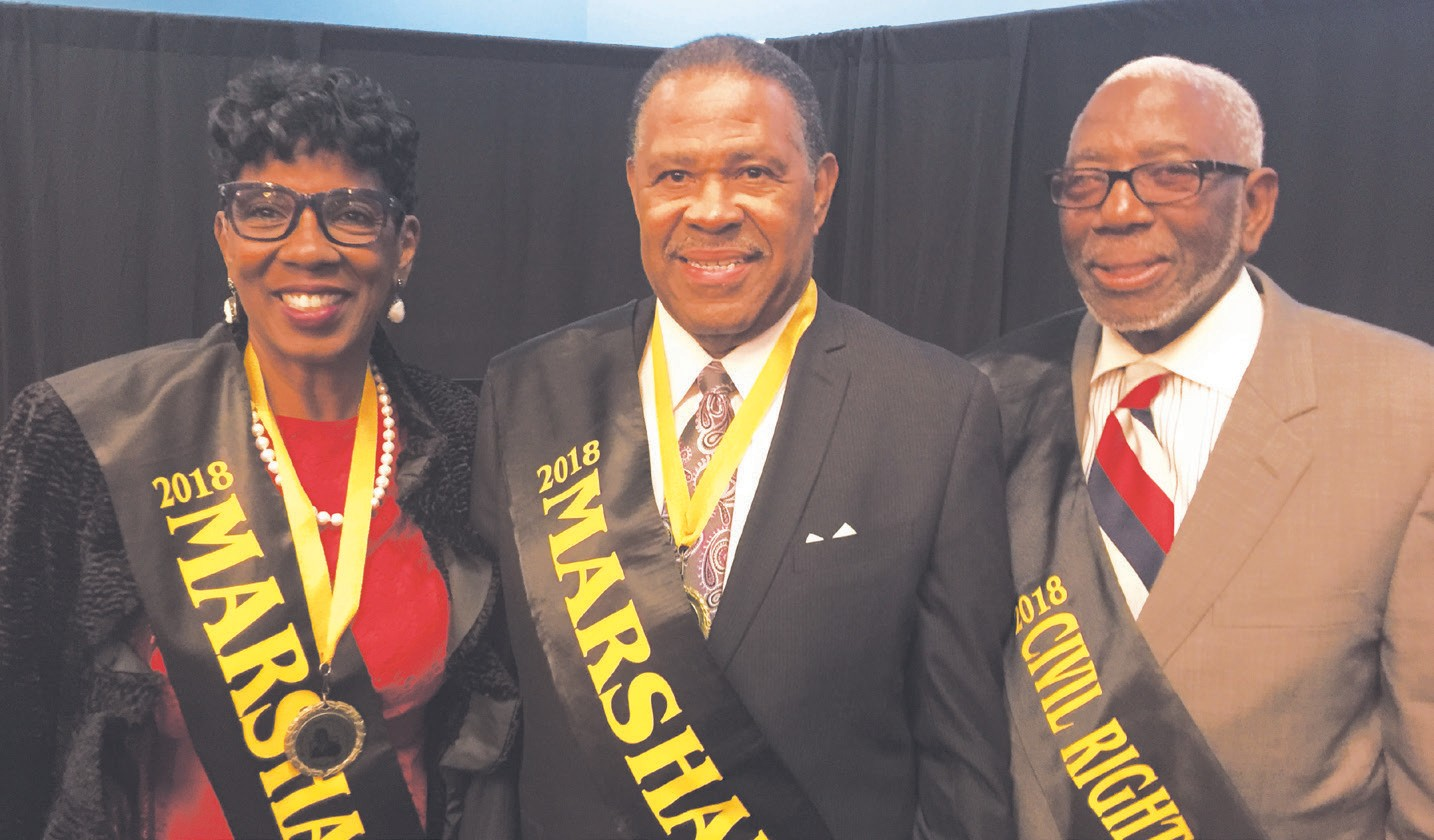 "Dr. M. Ann Levett, Alton ""Al"" Wright, and Bobby Lockett"