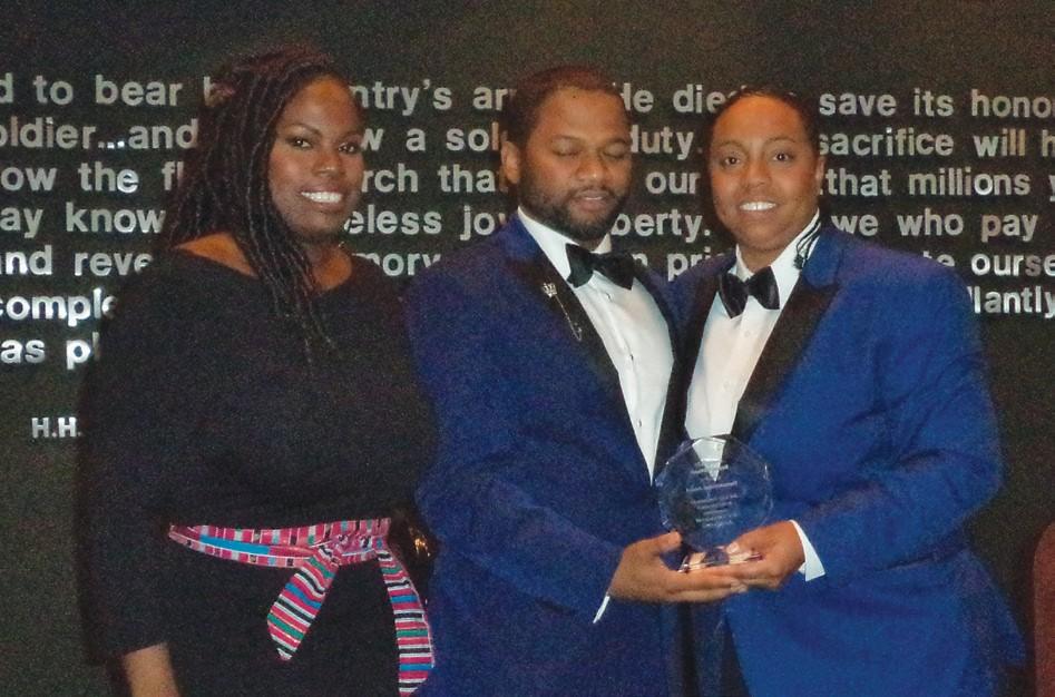 Renee' Williams (right) recieves Humanitarian Award