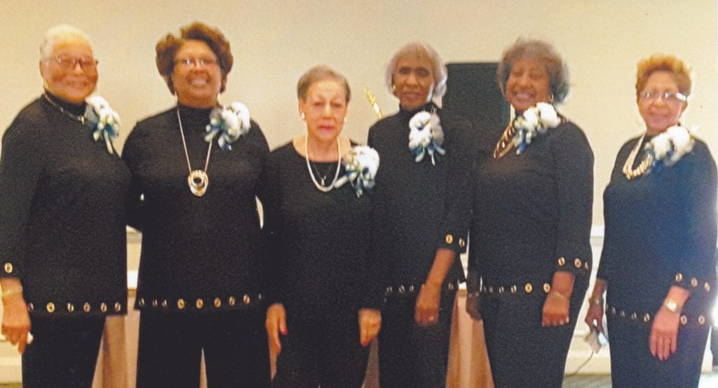 L-R: Dorothy Speed, Jere Williams, Dandy Taylor, Carolyn Russell, Johnye Gillans and Dorothy Wilson