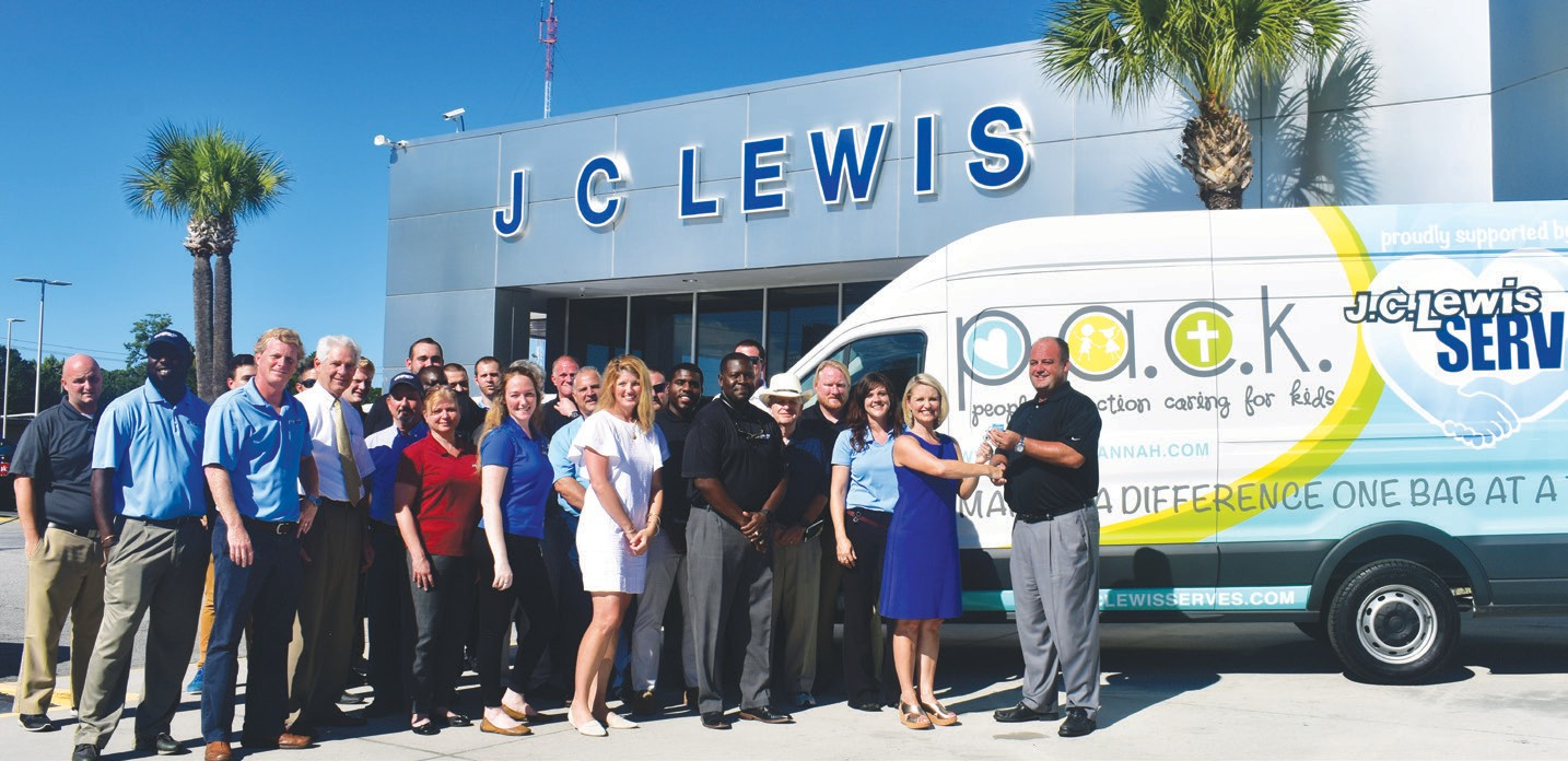 Jc Lewis Ford >> J C Lewis Serves Donates New Delivery Vehicle To Community Partner