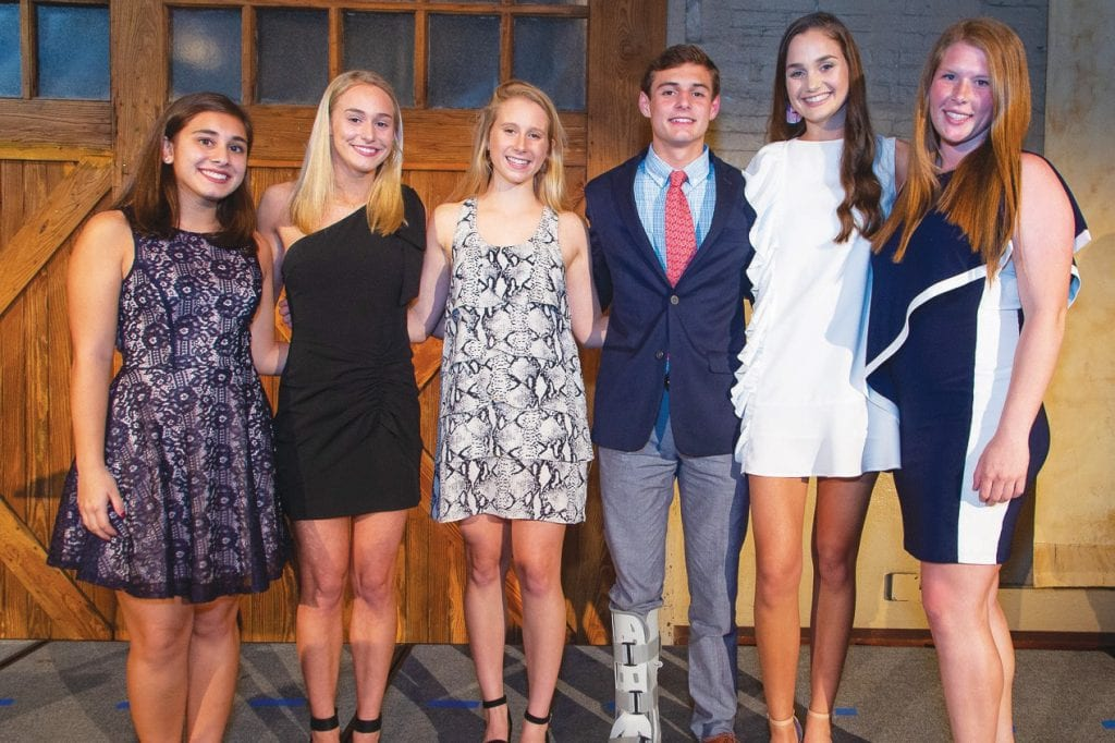 Pictured L-R: Aneesah Dalal –-Citizenship Award; Delle Smith, Ashley Pankey and Gowan Smith – The Three Muskecures, Winners; Elizabeth Oliver, Samantha Zittrauer – Relentless Raiders, Runner Up