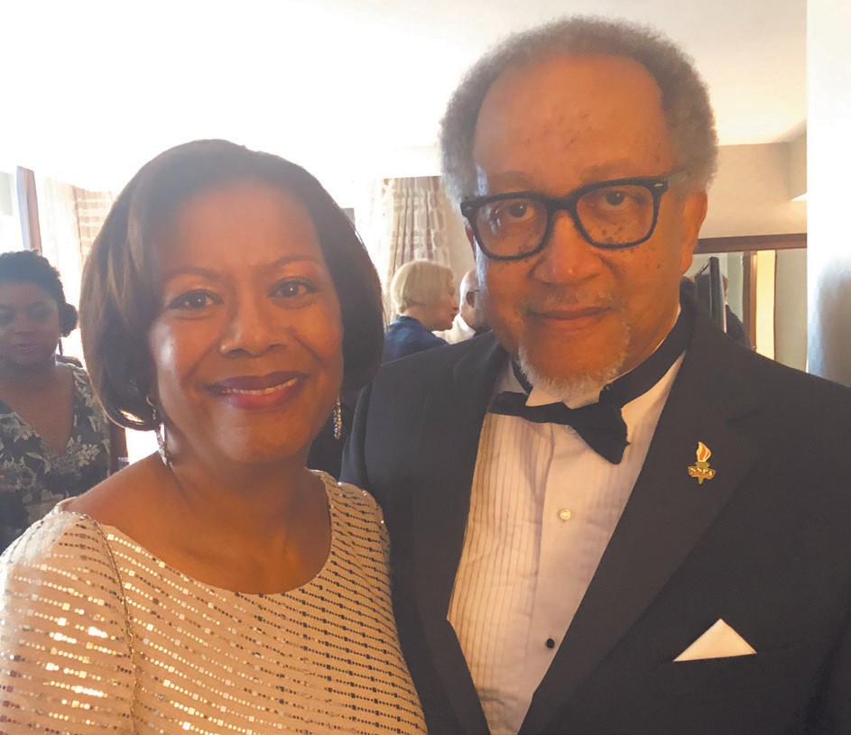 NNPA President and CEO, Dr. Benjamin F. Chavis Jr. (right) and AARP's Senior Vice President of Multicultural Leadership Edna Kane Williams
