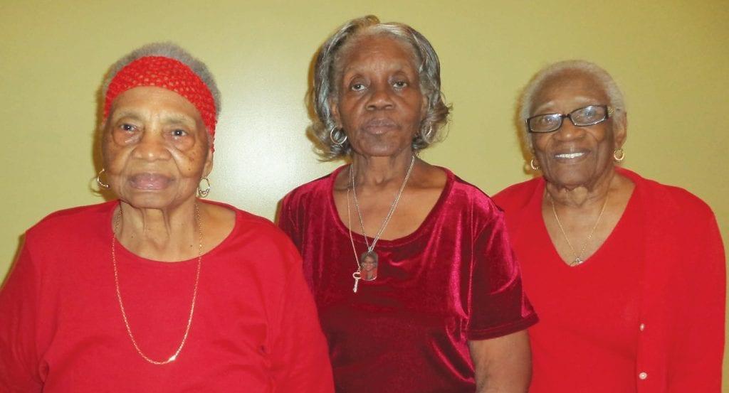 L-R: Leona Lang, Essie Williams and Jestine Winford