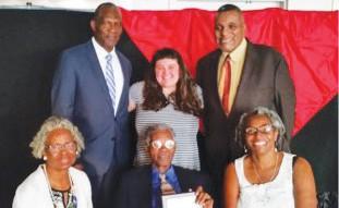 Seated: Virginia Parham, BOD member; Rev. Matthew Southall Brown, Sr., Terri Lewis, BOD member; Standing: James Riles, BOD member; Molly Lieberman, BOD member; & Joseph N. Bell, BOD President