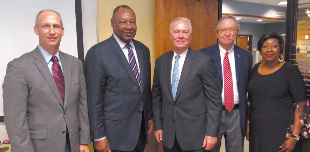 (L-R) GBA Vice President David Oliver, Carver President Robert James, GBA President Joe Brannen, Retired First Chatham Bank President and current Savannah Alderman Brian Foster and former Savannah Mayor Edna Jackson.