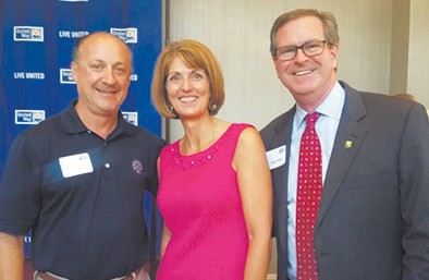 L-R: David Paddison of Sterling Seacrest Partners, Deb Thompson, and Steve Pound of St. Joseph's/Candler Hospital