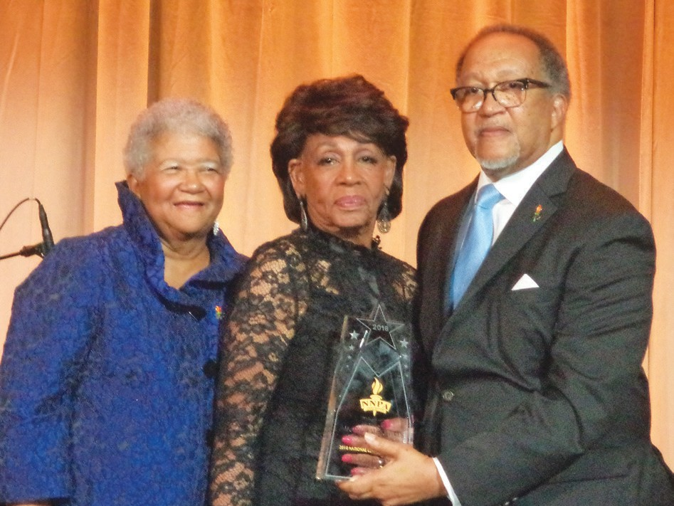 Dorothy Leavell, Rep. Maxine Waters and Dr. Ben Chavis