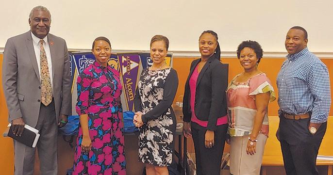Dr. Zke Zimmerman, Ms. Alexis L. Parker, Mrs. Sheila B. Hutcherson, GSO President; Dr. Kisha Cunningham-Aites, Ms. Kellyn O. McGee, Esq., & Mr. Christopher K. Middleton, Esq