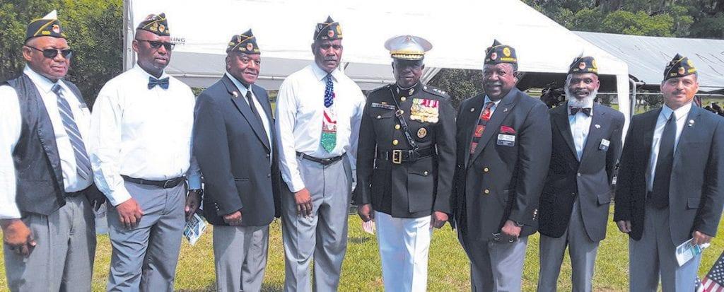 Members of William P. Jordan Post 500 shown with Ret. General Walter Gaskin