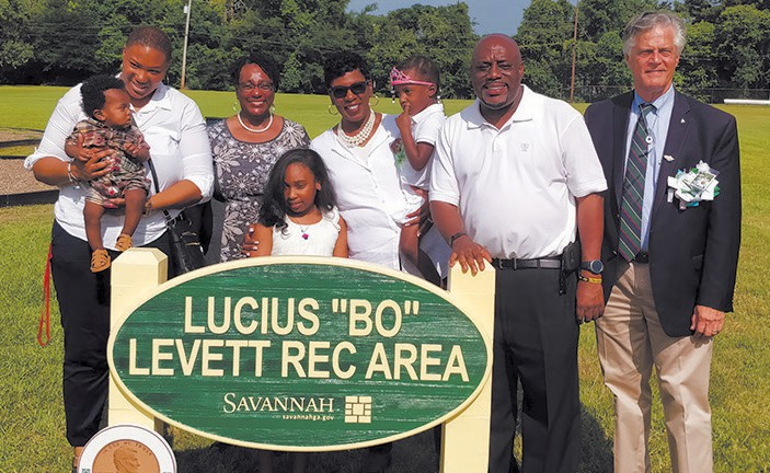 City Council Members along with The Levetts
