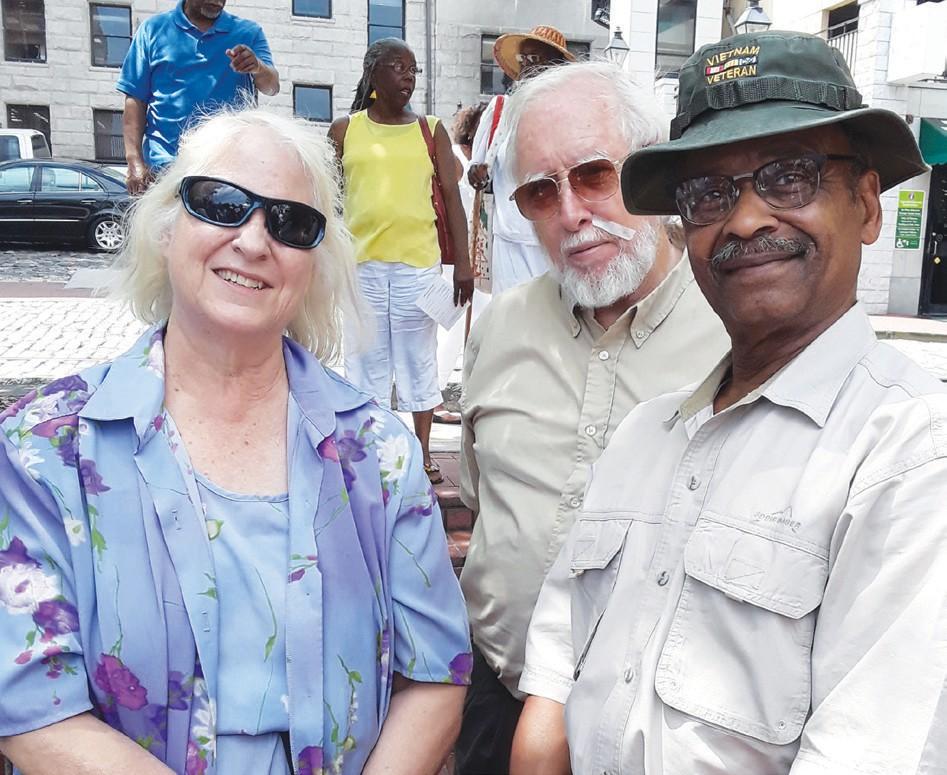 Ken Jordan pictured with sculptress Dorothy Spradley