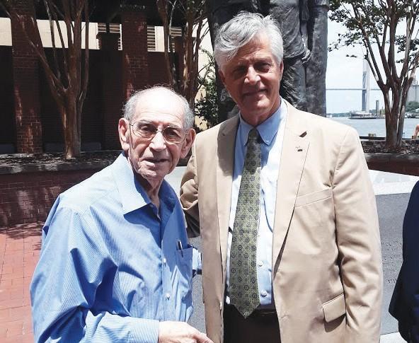 Mayor Eddie DeLoach pictured with architect Eric Meyerhoff