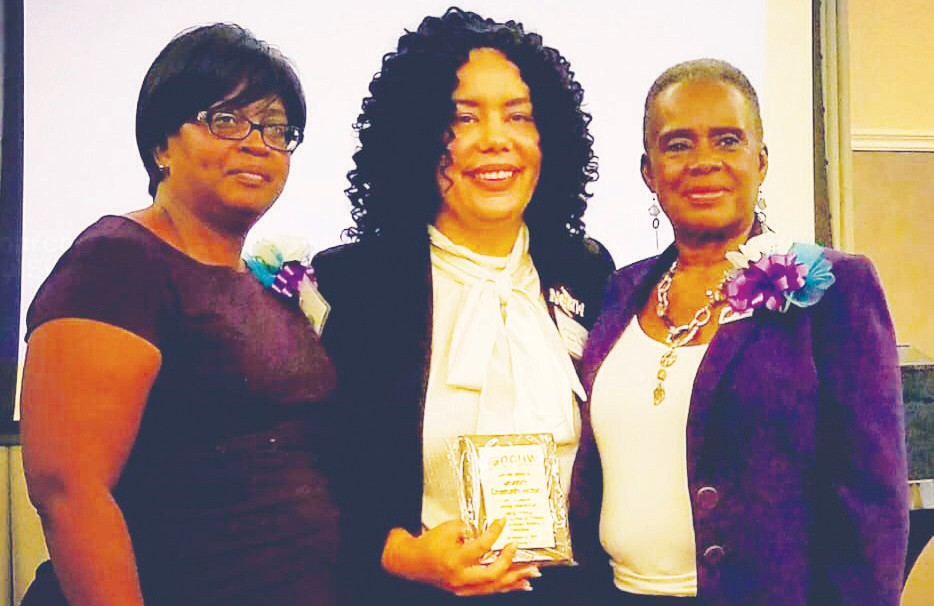 L-R: Section President, Cynthia Stephens, Sharah Denton and Founding President, Estell Mannion