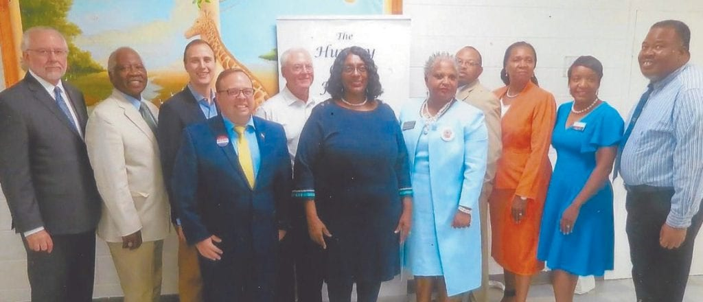 Photo: (L-R) Hon. Bill Durrence, Hon. John Hall, Nick Palumbo, Kurtis Purtee, Tony Center, Hon, Estella Edwards Shabazz, Linda Wilder-Bryan, Detric Leggett, Bernetta B. Lanier, Kesha Gibson-Carter, Antonio Hunter. Attending but not shown Hon. Carol Bell