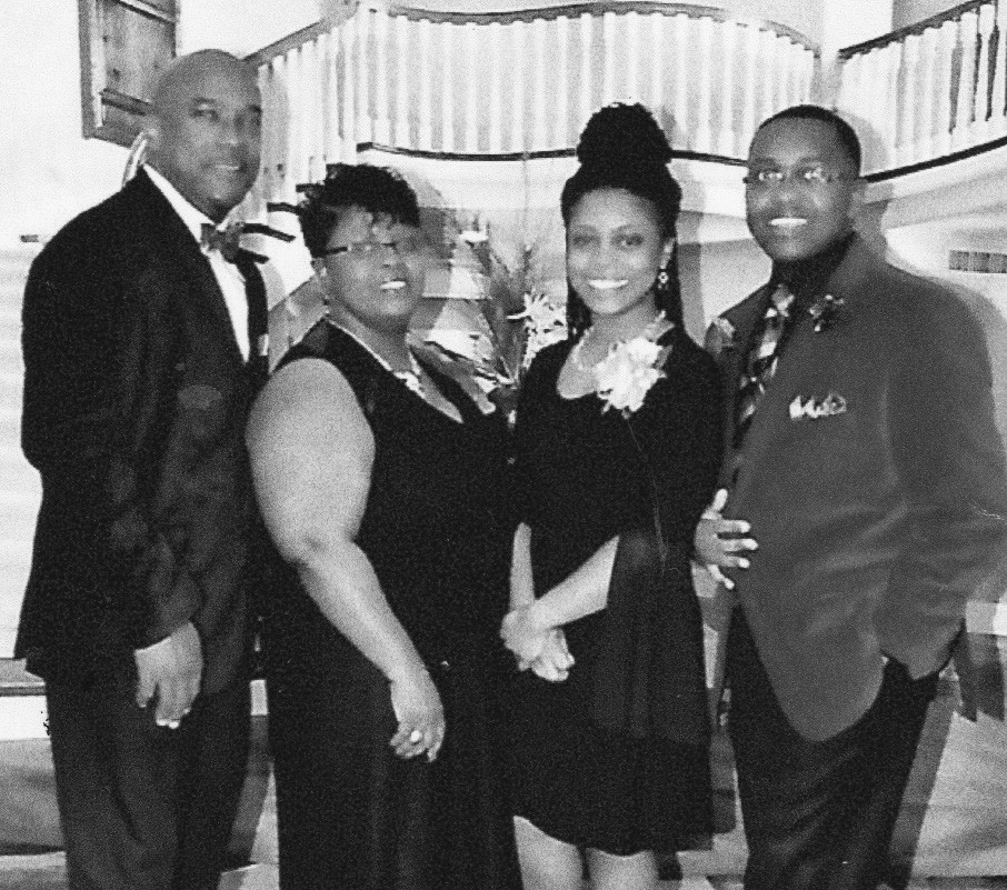 L-R: Pastor Marc Williams, wife Pamela McKee-Williams, daughter Candace S. Williams, and son Marc L. Williams Jr.