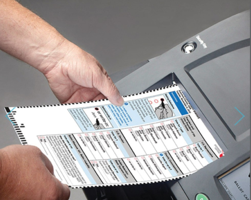 New voting machine with paper ballot receipt