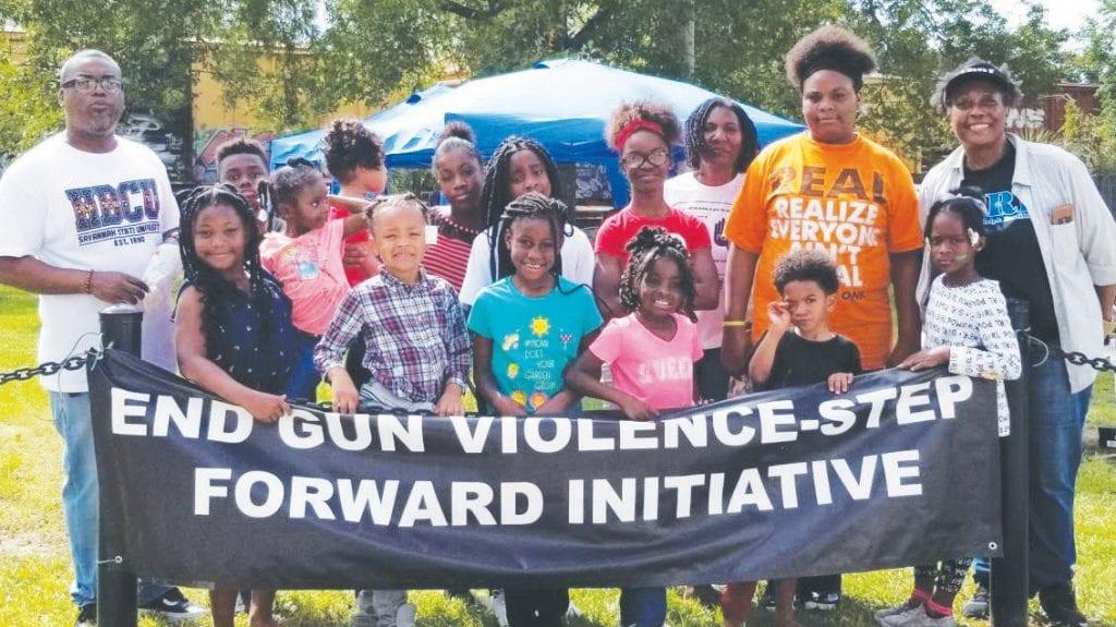 "L-R: Host Isacc Felton,""End Gun Violence"", Host Ervenia Bowers, APRI-Savannah Youth, Host Pastor Michelle Murphy, True Tabernacle Holiness Church"