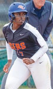 Savannah State softball's lone senior in 2020, Shayna Byers [Photo: Savannah State Athletics]