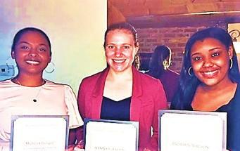 L-R: Michara Chataigne, Hannah Harris, and Andrien Wilson