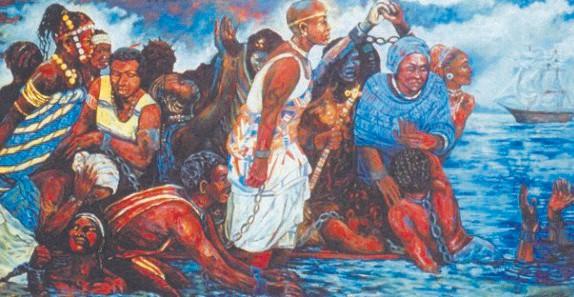 Igbo Landing painting by LaRue (Dee Williams)