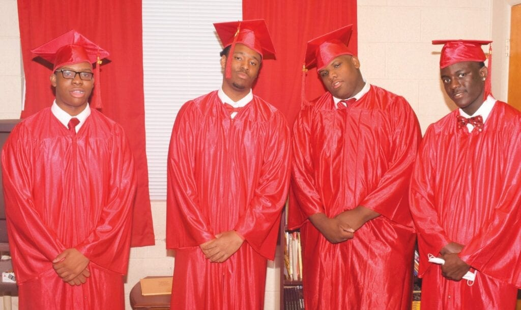 NaQuan Smith, Chandler Rouse, Jermaine Tolbert and JaShawn Tanner