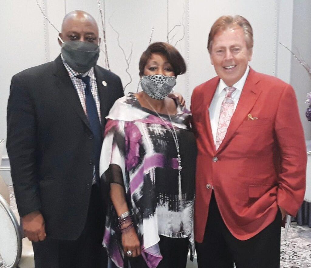 L-R: Mayor Van Johnson, Edna Jackson and Richard Kessler