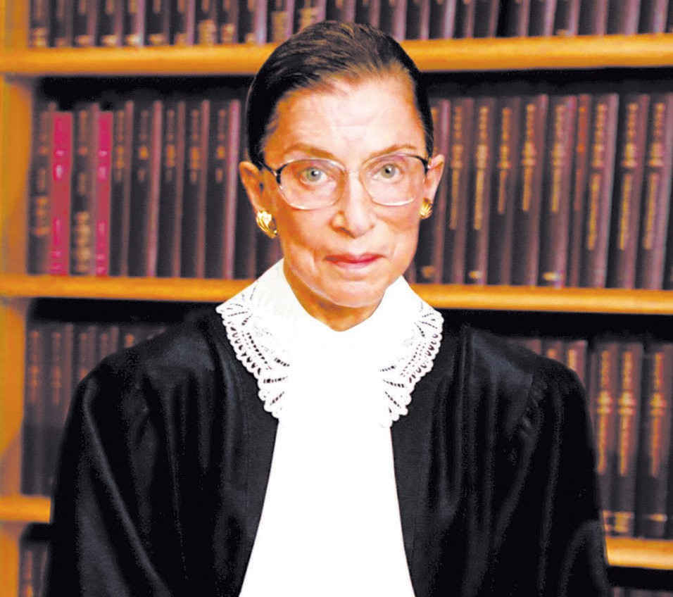 """Justice Ruth Bader Ginsburg (""""R.B.G."""") (Photo: Collection of the Supreme Court of the United States, Photographer: Steve Petteway)"""