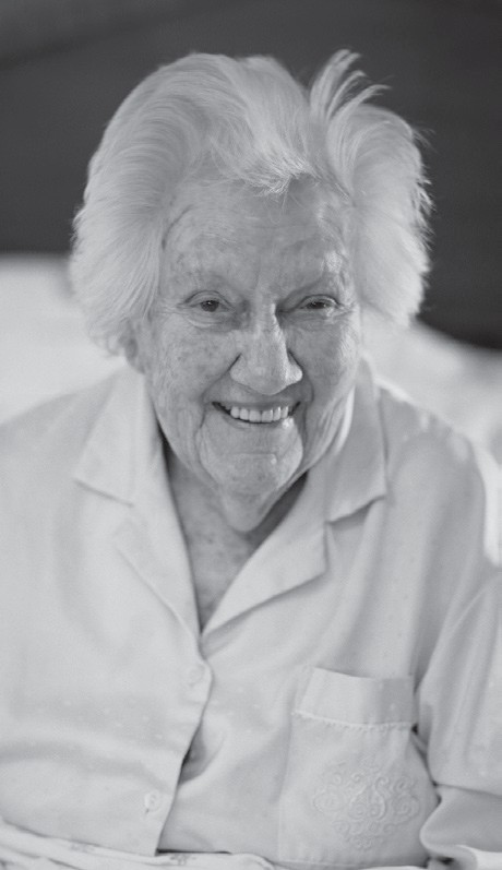 """Photo of Eleanor """"Sandy"""" Torrey West at age 101, in her home on Ossabaw Island in 2014. Photo Credit: Robert S. Cooper Photography"""