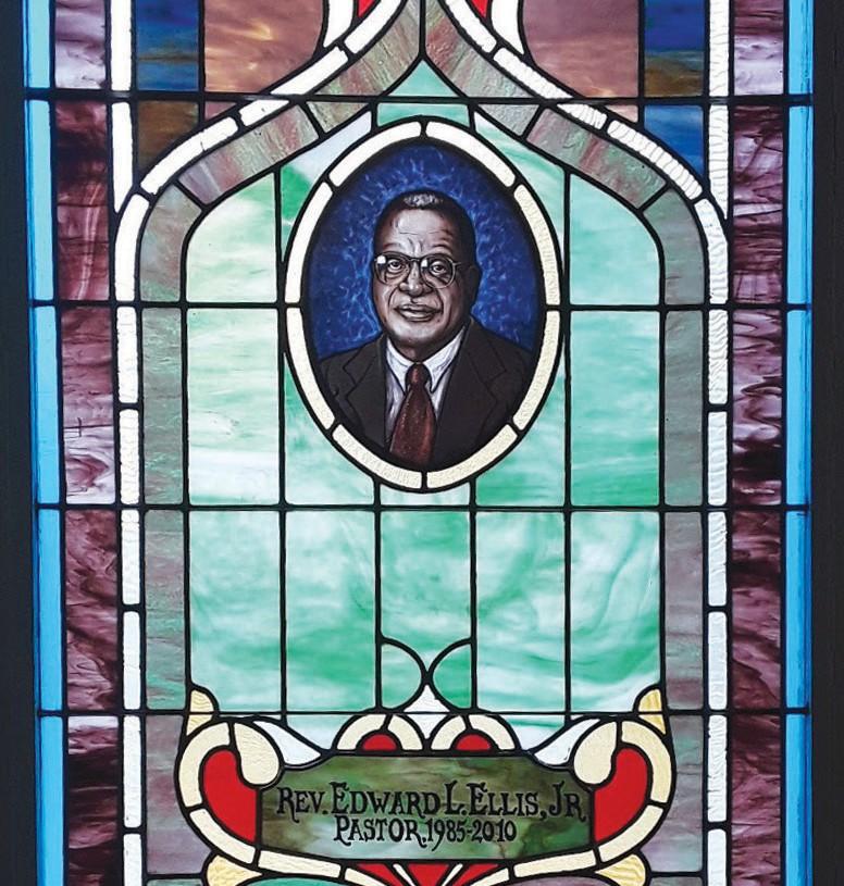 Pastor Edward L. Ellis, Jr.'s Memorial Window at First Bryan Baptist Church by John Erickson