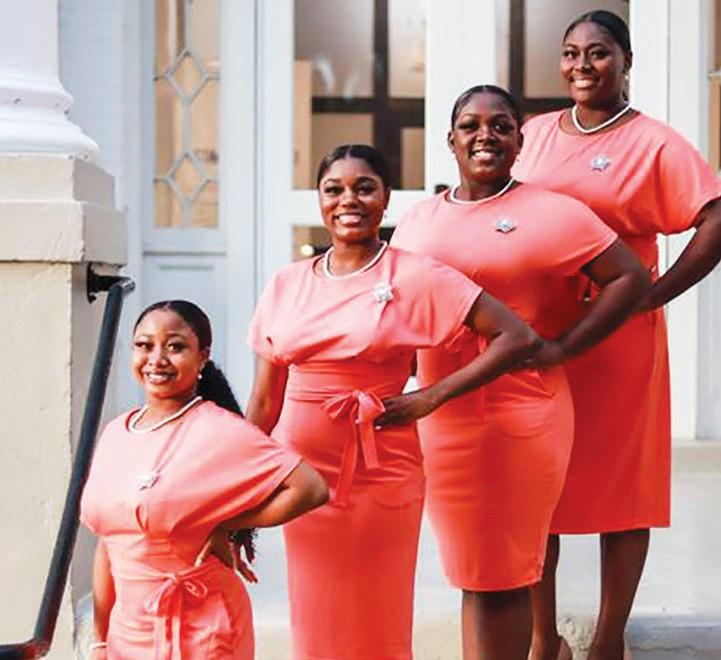 Class Queens L-R: Alaun Mays, Trinity McIver, Quaniah Morgan, Eriyanna Barret