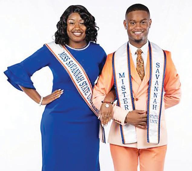L-R: Miss SSU Ottoria Foreman & Mister SSU Christian Hill