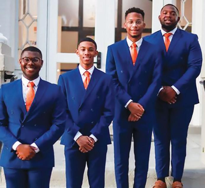 Class Kings L-R: Michael Taylor, Alexander Richardson, Jr., Jamari Rice, Almario Duehart
